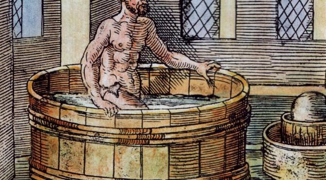 Archimede tắm (hình trên internet)