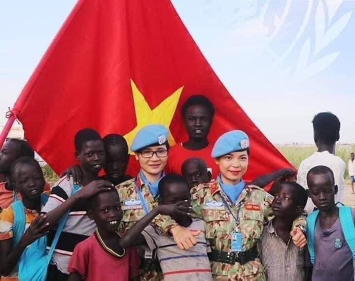 Cờ VN ở Sudan