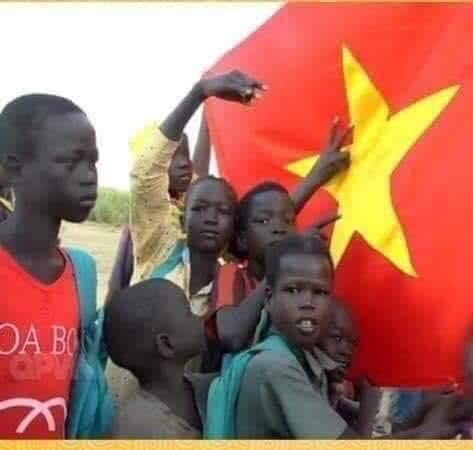 Cờ VN ở Nam Sudan